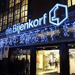 de bijenkorf in The Hague in the Netherlands in Den Haag, Zuid Holland, Netherlands