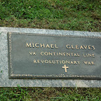 Michael Gleaves (tombstone only) Son of Matthew Glaves, Sr. Actually buried in Davidson County, Tennessee Michael Gleaves Cemetery
