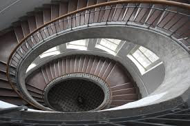 Staircase in the main building of the Bauhaus University, Weimar