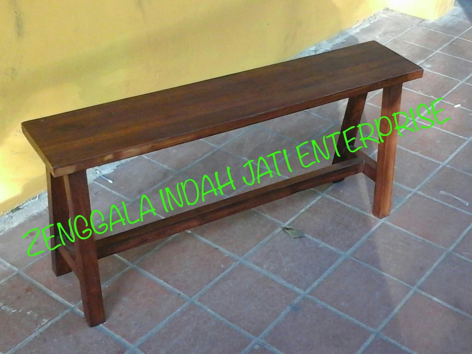 Strange Zenggala Indah Jati Enterprise Long Bench Lamtechconsult Wood Chair Design Ideas Lamtechconsultcom