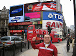 Me at Piccadilly Circus (like Times Square, but not)