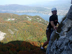 Vue sur le lac du Bourget, Aix les bains et les rochers de la Chambotte (Savoie).