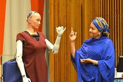 Sophia Robot and Her Little Sister