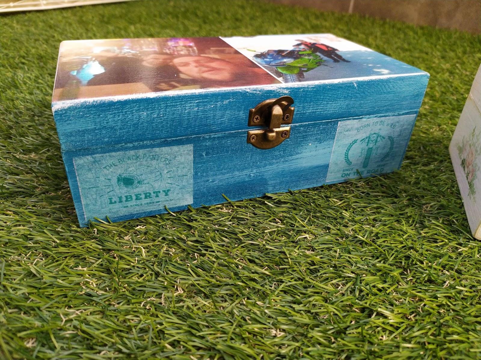 caja con motivos moteros, motos para cajas