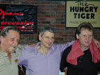 John Frisell, Mark and Bernie Palka after performing at the 5th Annual Ray Beller Scholarship event, Hungry Tiger April 2010