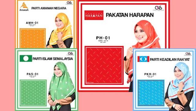 Peniaga tampil idea kreatif tudung PRU14