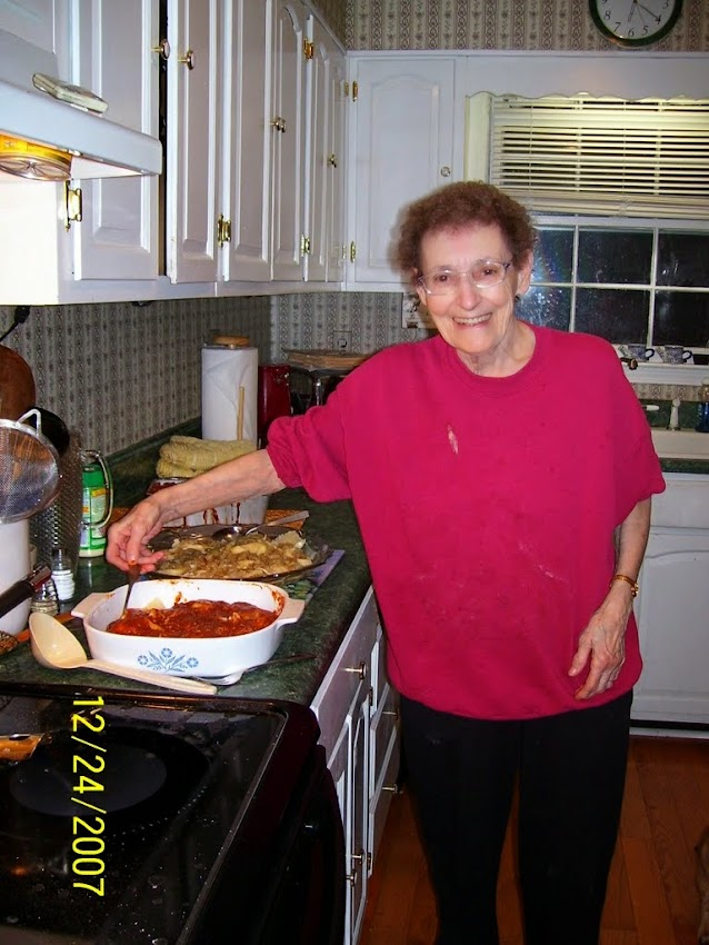 Granny cooking in the kitchen