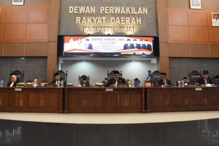 DPRD Sinjai Paripurnakan LKPJ Bupati Tahun 2019