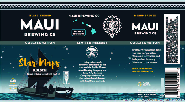 Maui Brewing & Smog City Collaborate On Star Maps Kolsch Cans