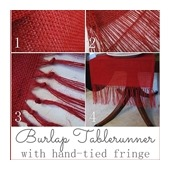 CONFESSIONS OF A PLATE ADDICT Hand-tied Burlap Tablerunner Tutorial2a