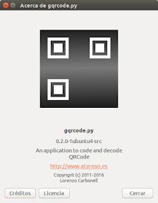 Crear códigos QR en Ubuntu - acerca de