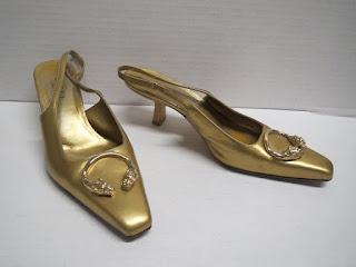 Gucci Gold Slingbacks