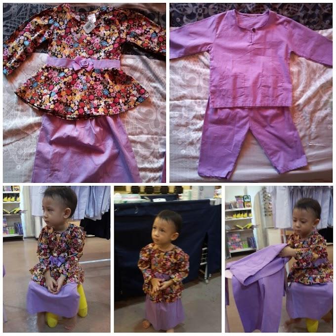 Baju Kurung Baju Melayu Anak Untuk Raya 2016 Tema Purple