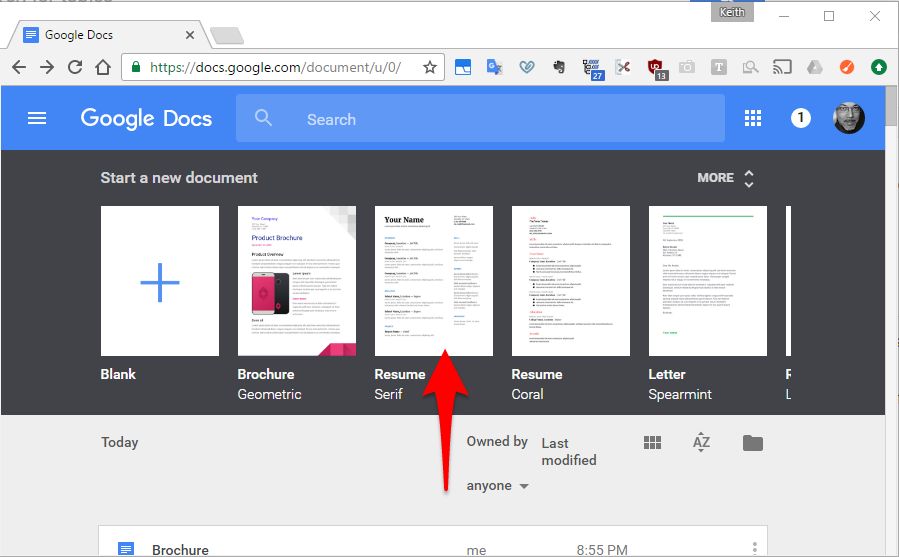 template google doc