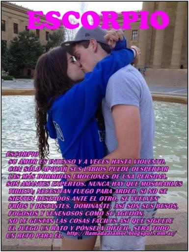 Como besan los de Escorpio