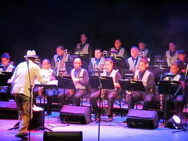 Miembros de la Orquesta Latino Caribeña Simón Bolívar, agrupación que pertenece al Conservatorio de Música Simón Bolívar