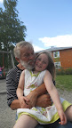 Svein and Matje (grandchild no 6) at the kindergarten party