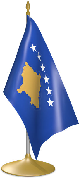 Kosovar table flags - desk flags