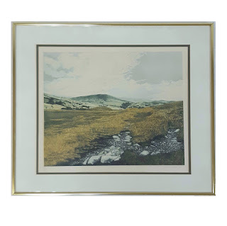 Signed Aquatint Landscape