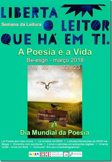 cartaz de divulgação, pela profª Andrelina Silva