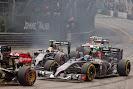 Start of the 2014 Monaco F1 GP backfield into 1st corner