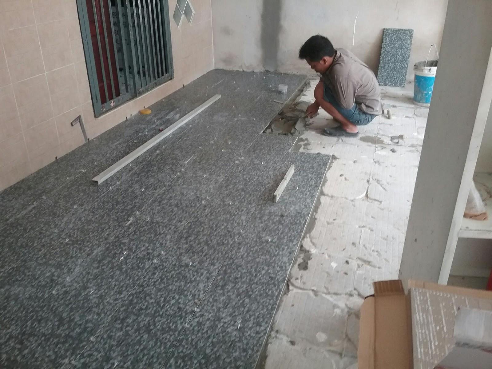 Pemasangan Tile Car Porch