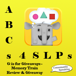 ABCs 4 SLPs: G is for Giveaways - Memory Train Review and Giveaway image