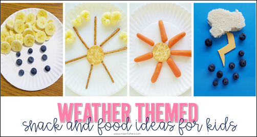 Weather Themed Snacks for Kids