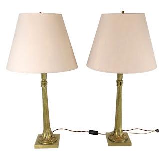 Vintage Brass Lamp Pair