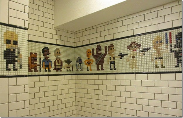 star wars shower tile mosaic