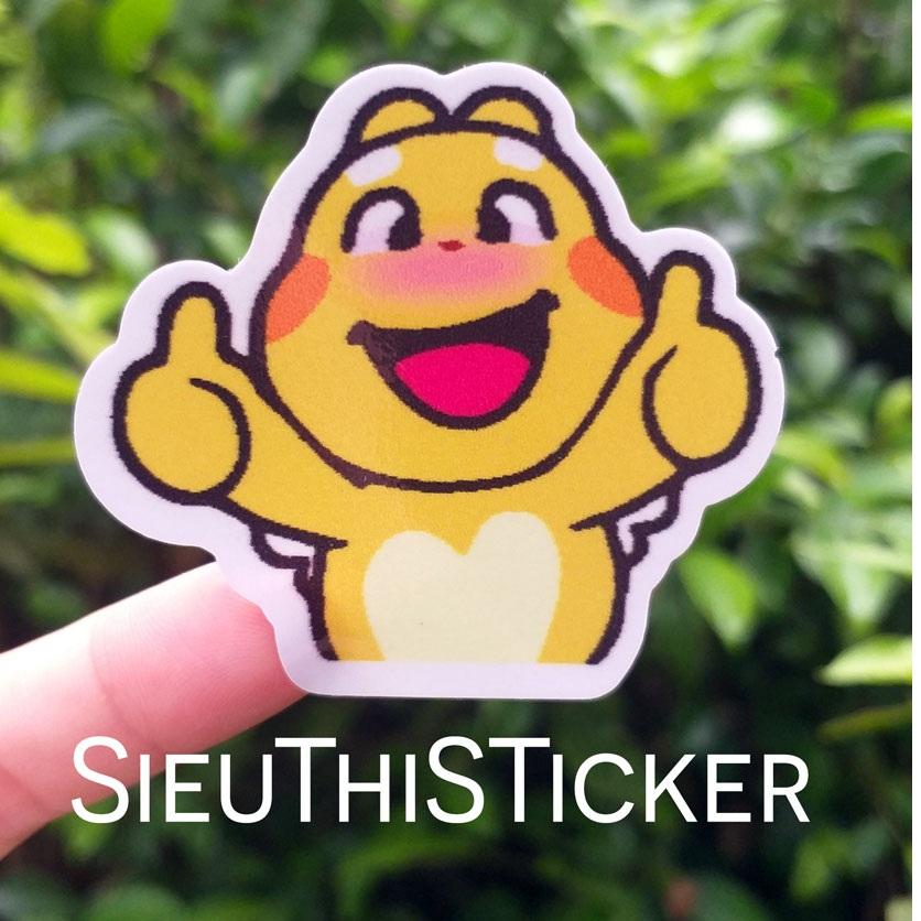 sticker hình dán rồng vàng