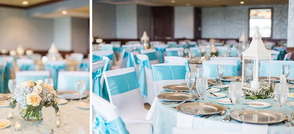 Fun Tan And Aqua Colored Norfolk Wedding Tidewater And Tulle