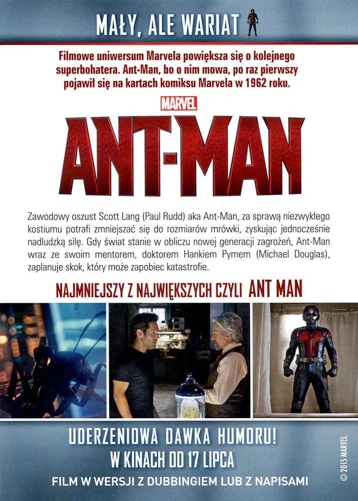 Ulotka filmu 'Ant-Man (tył)'