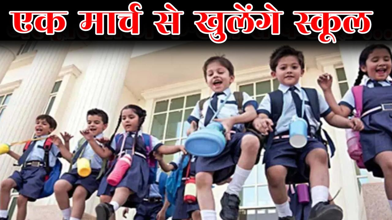 1 मार्च से खुलेंगे कक्षा एक से लेकर पांच तक के स्कूल, गाइडलाइन जारी
