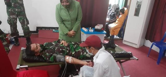 Maknai HUT Ke-62 Kodam VI, Kodim 1004 Gelar Donor Darah