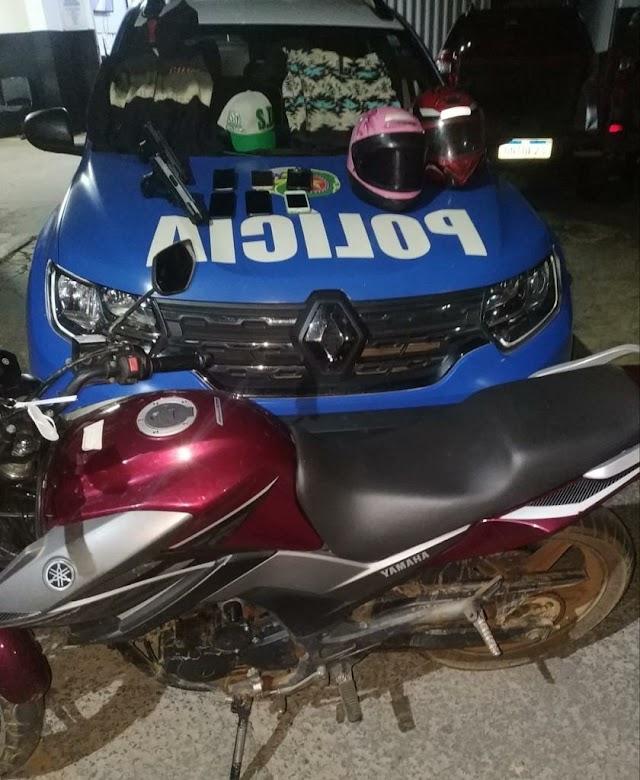 Senador Canedo: Operação conjunta prende criminoso, apreende menores, recupera moto e celulares
