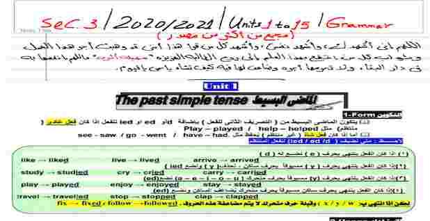 مراجعة اللغة الانجليزية للثانوية العامة لمستر صبحى الغيطانى 2021