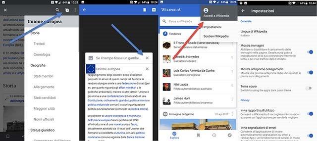 wikipedia-impostazioni