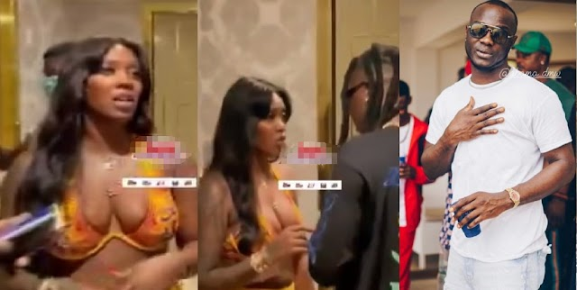 Tiwa Savage Spotted Chilling With Stonebwoy In A Hot Bikini After Obama DMW's Death (Video)