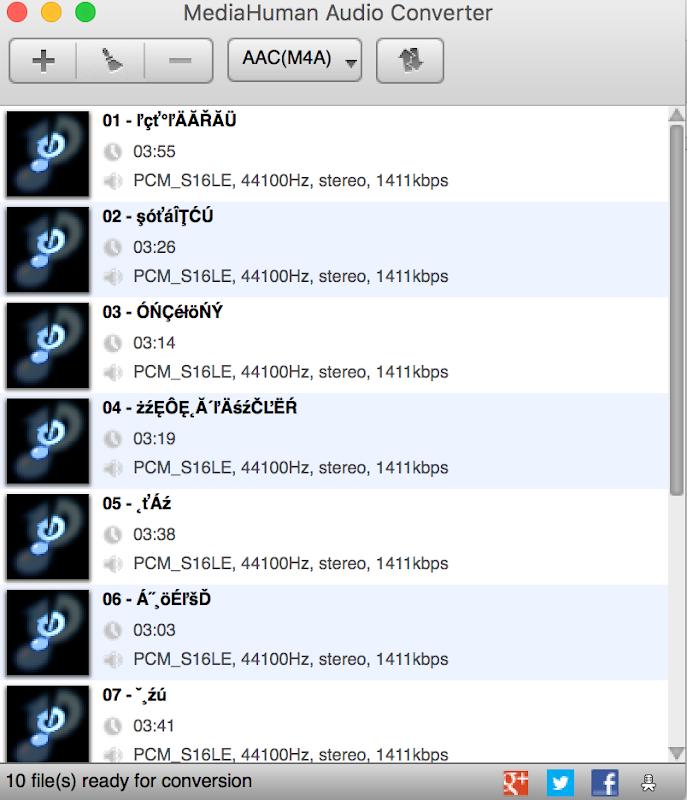 MediaHuman Audio Converter 和 MAC 將wav cue檔切成mp3