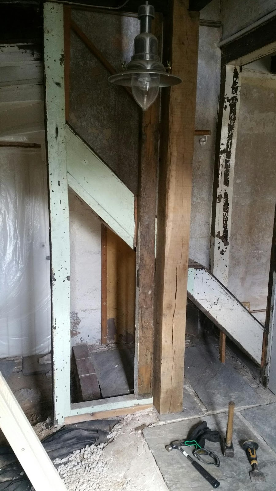 It Took Surprisingly Little Effort To Remove The Old Stairs. They Were  Fragile And Built In Sections, So They Came Apart With A Light Hammering  And Were ...
