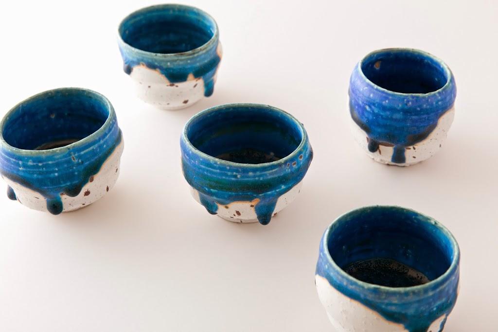 Sake cup Wan Blue
