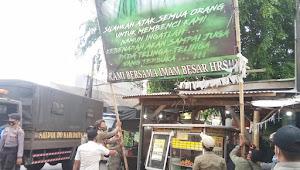 Puluhan Baliho Dan Spanduk Habib Rizieq Syihab, Ditertibkan Di Tangerang