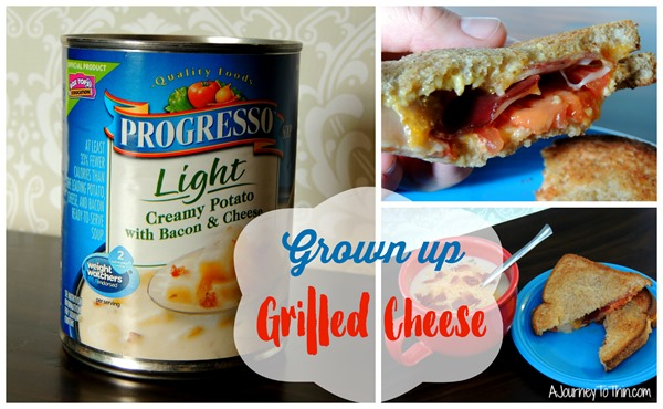 Grown up Grilled Cheese with Progresso® Light Creamy Potato with Bacon & Cheese Soup #EatLightEatRight #ad