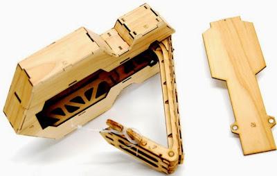 Ponoko folding Ukulele