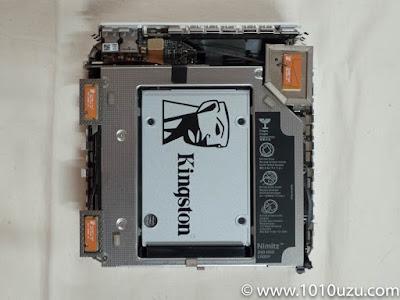 SSDをKingston UV400に載せ替えた
