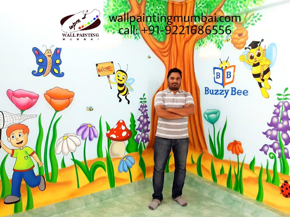 Preschool wall painting wall mural