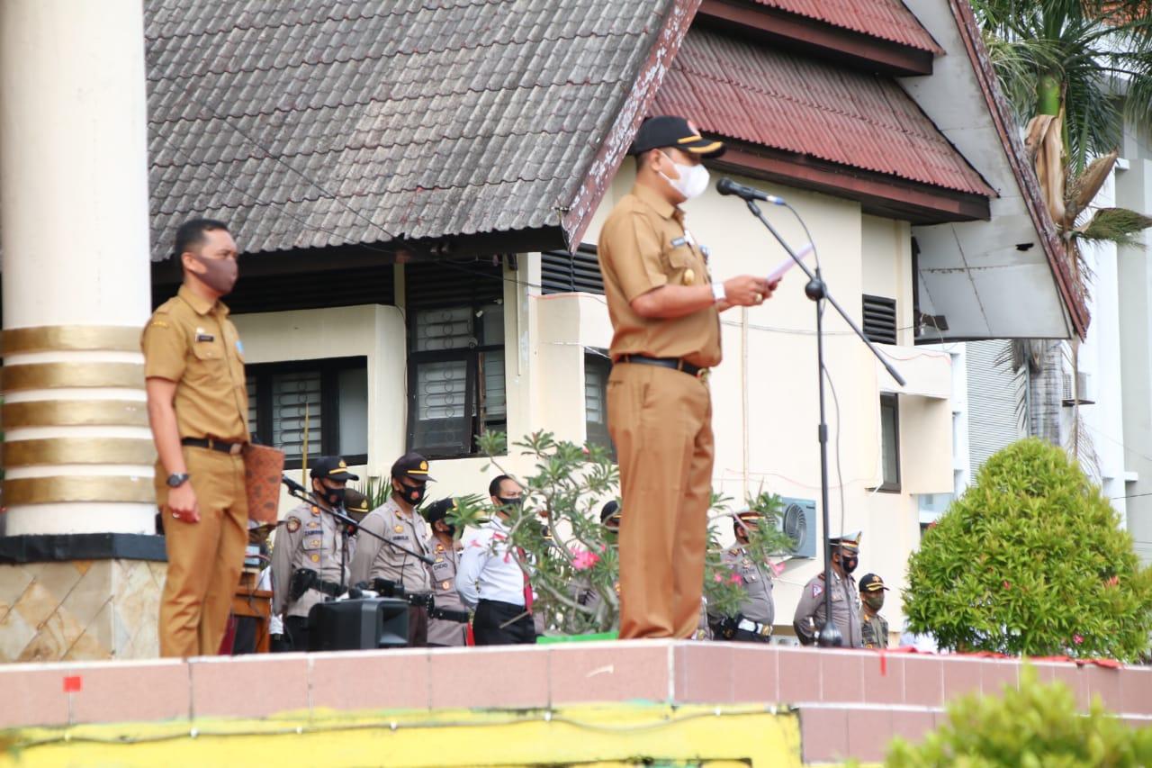 PJS Bupati Soppeng Sebagai Inspektur Upacara Kegiatan Apel Gabungan Penanggulangan Bencana Alam