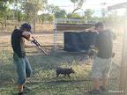Fabi und ich auf Jagd ; )