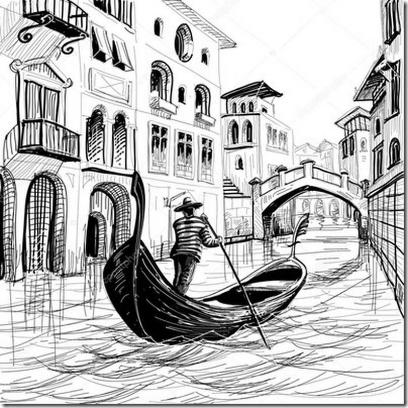Dibujos de Venecia para colorear